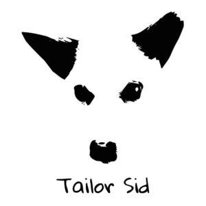 logo Tailor Sid bianco quadrato